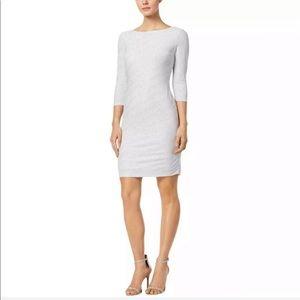 NWT Calvin Klein grey silv glitter cocktail dress